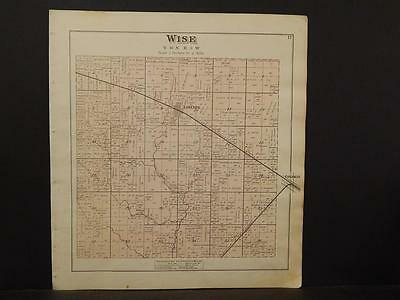 Michigan, Isabelle County Map, Wise Township  1879 Y5#90