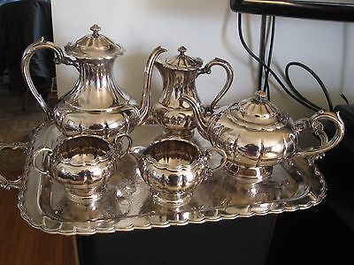 Birks Silverplate 6 Pc Coffee Tea Service Set