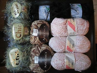 A Crafters job lot of vintage knitting yarns