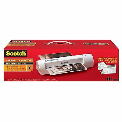 NIB Scotch THERMAL LAMINATOR TL901C with 2 pouches