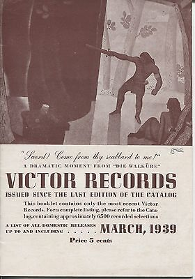 March 1939 Victor Records Catalog