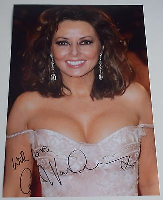 Carol Vorderman SIGNED 12x8 Photo Autograph Countdown TV Loose Women AFTAL COA