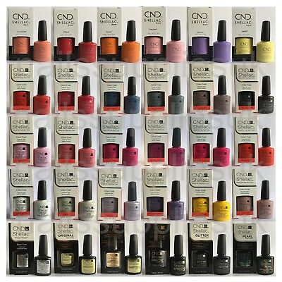 CND Shellac Nail Polish Choose from ANY Colours, PEARL, MATTE, GLITTER TOP COAT!