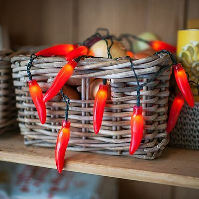 Chilli Pepper String Lights Battery Operated Party Decor Home