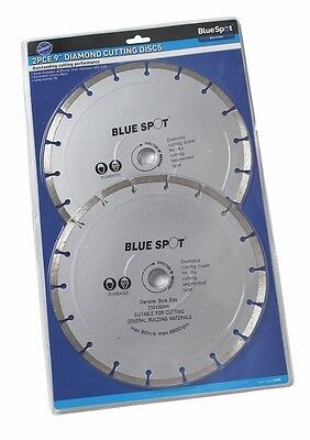 "2 x 230mm Diamond Cutting Disc 9"" Inch Diamond Cutting Blade For Angle Grinder"