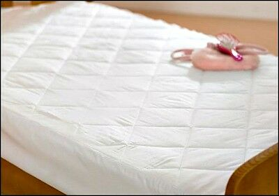 Love2SLeep EGYPTIAN COTTON COT BED QUILTED MATTRESS/ PILLOW PROTECTOR