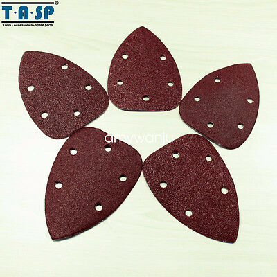 25PCS 140x100mm Abrasive Paper Sheet for Palm Sander 60 80 120 180 240 Grit
