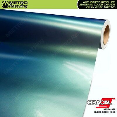 ORACAL Series 970RA-988 GLOSS GREEN BLUE Vinyl Vehicle Car Wrap Film Sheet Roll