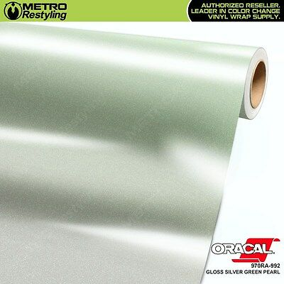 ORACAL Series 970RA-992 GLOSS SILVER GREEN PEARL Vinyl Vehicle Car Wrap Film