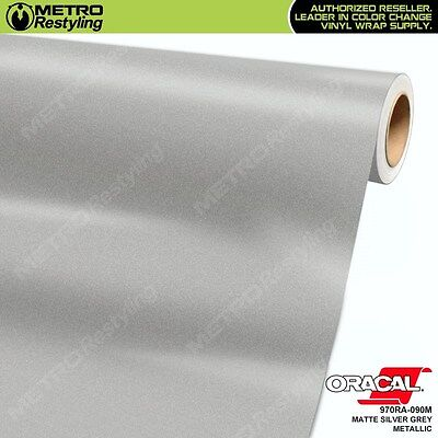 ORACAL Series 970RA-090M MATTE SILVER GREY METALLIC Vinyl Vehicle Car Wrap Film