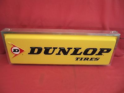 Original Dunlop Tire Dealer Showroom Lighted Sign Double Sided
