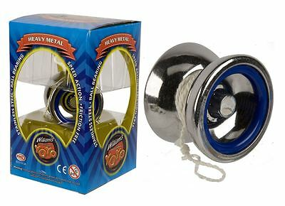 Trick Toy Silver Professional YoYo Ball Stainless Steel Kids Toys Bearing String