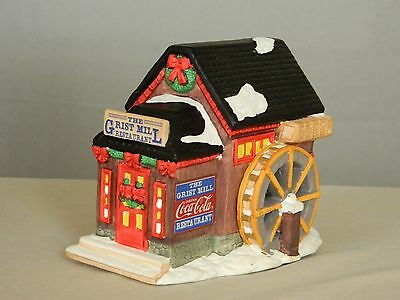 1995 Coca-Cola Lighted Christmas Village Figurine - Town Square Collection