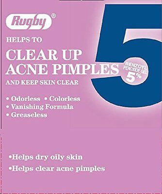 6 Pack - Rugby Acne Medication 5, Benzoyl Peroxide 5%, 1 Oz Each