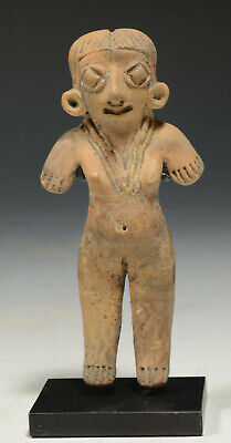 "Pre Columbian Michoacan Pottery ""Pretty Lady,"" ca. 800-100 BC 4''"