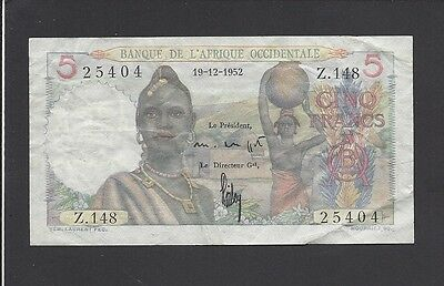 French West Africa - 5 Francs  1952