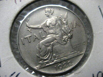 Coin Italy 1922 R 1 lire