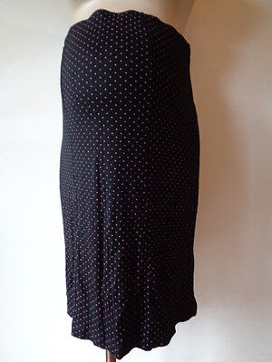 Dorothy Perkins Maternity Black & Pink Spotted Over Bump Skirt Size 12