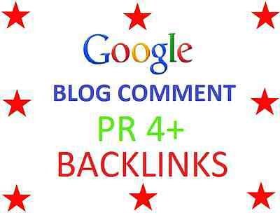 100 X PR 4+ Blog Comments High PR Backlinks With Report - Google SEO SERP RANK