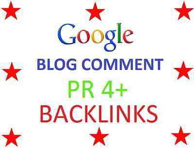 50 X PR 4+ Blog Comments High PR Backlinks With Report - Google SEO SERP RANK