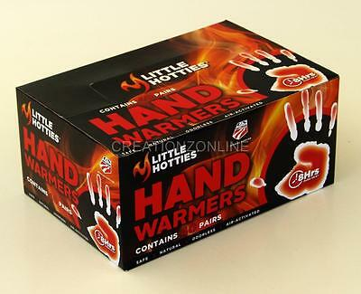 Hand Hand Hand Warmers 40 Pairs 80 Bags Little Hotties 8 Hours Heat Pack Snow
