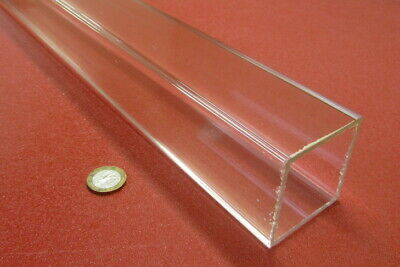 "Acrylic Square Tube Clear Extruded 2.25"" SQ x .125"" Wall x 72"" Length,1 Pcs -051"