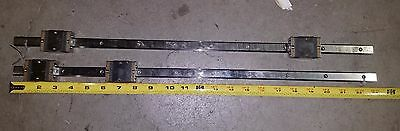 "Lot of 2 NSK Linear Rails Bearings S15  23""  or 584.2mm"