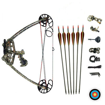 50LBS Magnesium Alloy Triangle Camo Compound Bow Hunting Left&Right Hand Target