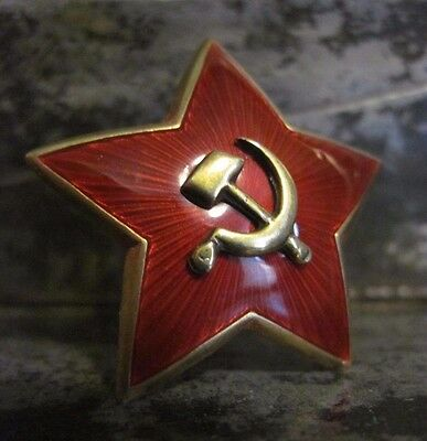 WW2 - RED ARMY BIG STAR with SEPARATED HAMMER & SICKLE COVER / RKKA / 1936
