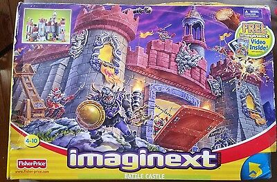 RARE 2003 Imaginext Battle Castle set with video Fisher Price New #78333