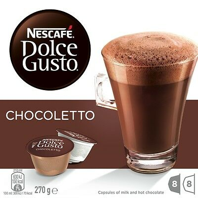 NEW Nescafe Dolce Gusto 12204963 Chocoletto Pods