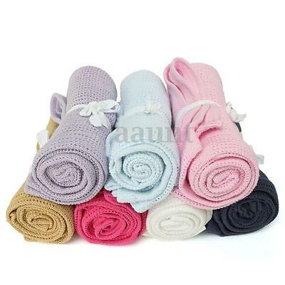 Newborn Baby Soft Nursery Cotton Banklet Receiving Blanket Swaddling Blankets US