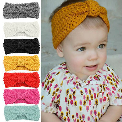 Sweety Gift For Kids Girl Baby Toddler Crochet Bow Headband Hair Band Headwear