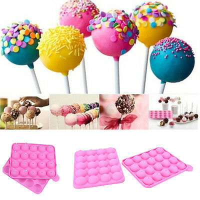 20 Sticks Cake Pop Mould Silicone Lollipops Chocolate Mold Baking Tray Tools New
