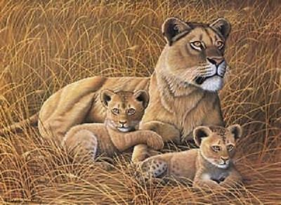 Royal & Langnickel - PJL26 - African Lioness & Cubs, paint by numbers