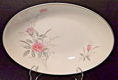 "Fine China of Japan Golden Rose MSI Oval Serving Bowl 10 1/4"" EXCELLENT!"