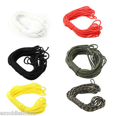 10M 7Core Paracord String 33FT Camping Hiking Rope 4mm Outdoor Survival Tool