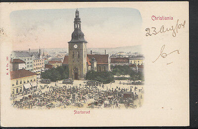 Norway Postcard - Christiania - Stortorvet  B1080
