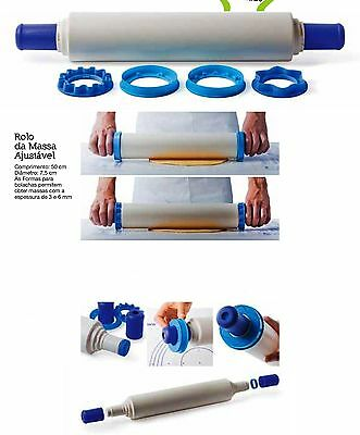TUPPERWARE® Adjustable Rolling PIN ** See Video** With biscuit cutter ** NEW **