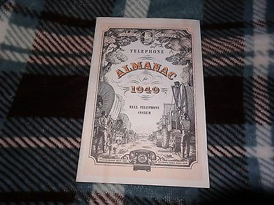 1949 Bell Telephone Almanac vintage advertising paper collectible