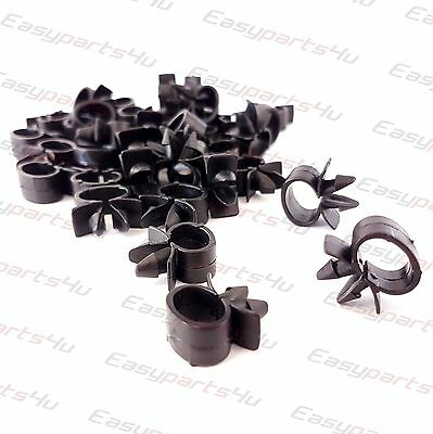 10x 7mm Tube Hose / Wire Cable, Loom Routing Harness Retainer Clip fits 7mm hole