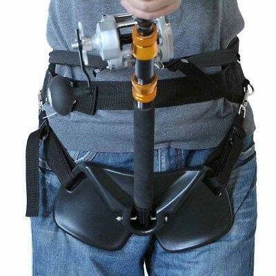 Stand Up Boat Yacht Sea Fishing Rod Holder Fighting Belt Adjustable Harness