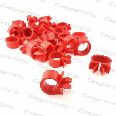 50x 10mm Tube Hose / Wire Cable Loom Routing Harness Retainer Clip fits 8mm hole