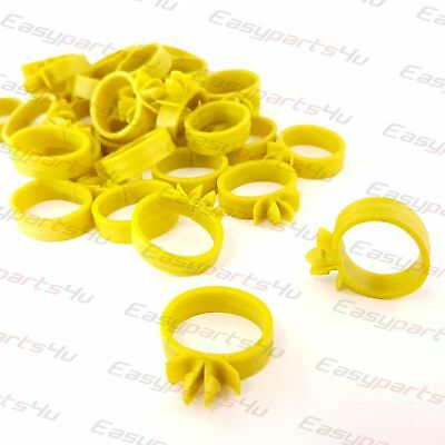 10x 18mm Tube Hose / Wire Cable Loom Routing Harness Retainer Clip fits 8mm hole