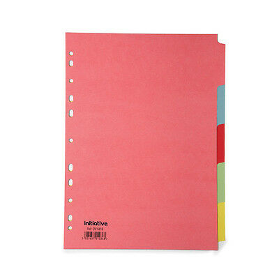 5 Part Subject File Filing Dividers A4 Multi Coloured