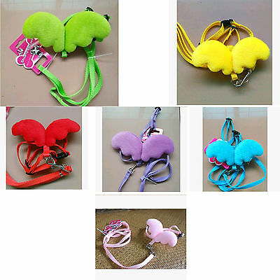 butterfly wings rabbit Small Animal Travel Leash Walk Soft Harness with Lead