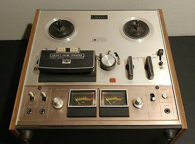 Akai GX-210D Reel to Reel Tape Deck Rare Champagne Face Plate