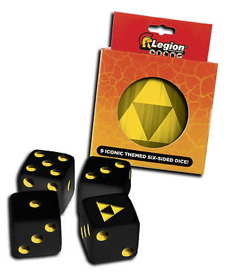 Dice Tin: Iconic Tri-Force D6 (9) LGN DCT124