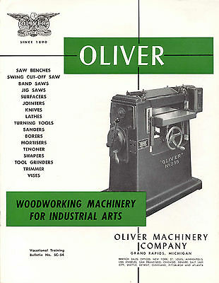 Oliver Woodworking Machinery for Industrial Arts  Brochure