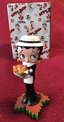 Betty Boop Calendar Girl Harvest Figurine November Retired NIB